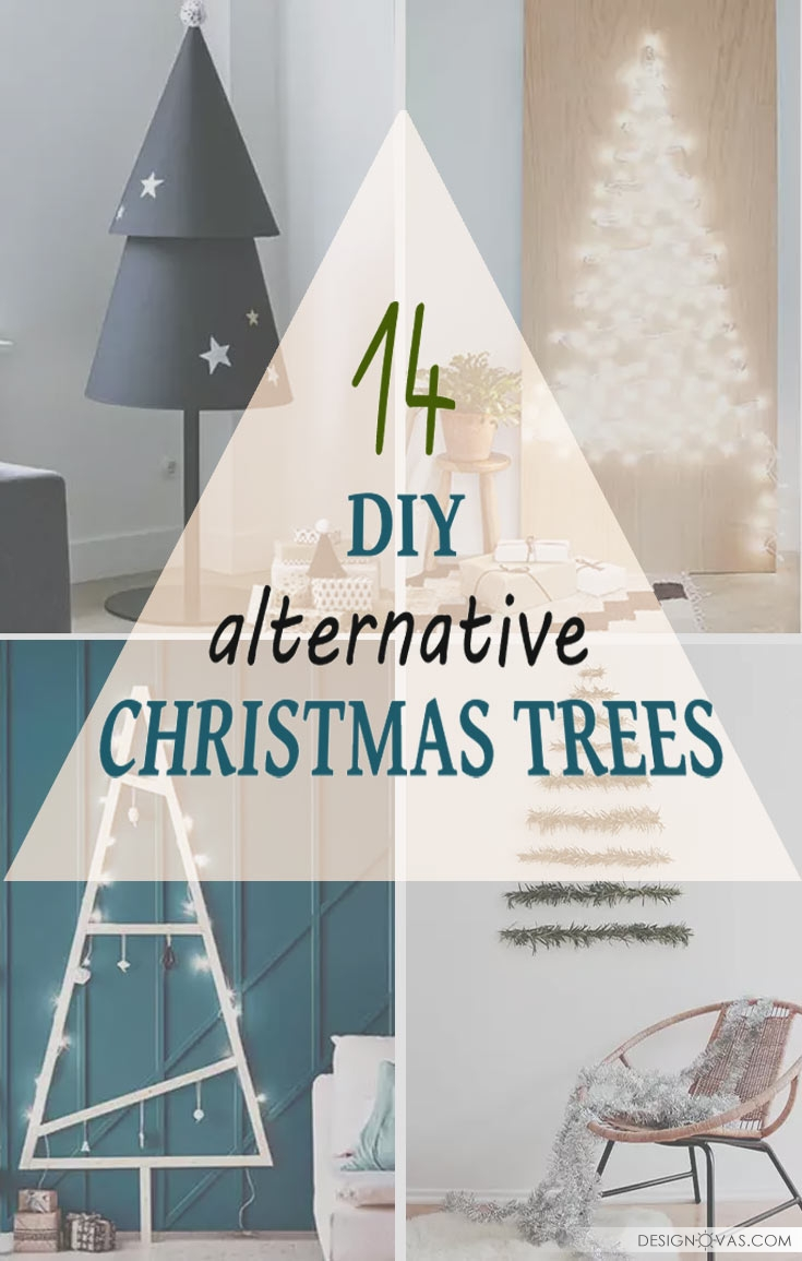 14 DIY alternative Christmas trees in modern style ⋆ Cool home and ...