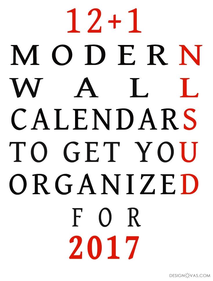 13 modern wall calendars 2017