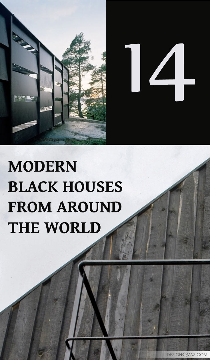 modern black houses
